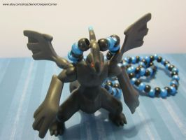 Zekrom Pokemon Black and White Kandi Necklace by colbyjackchz