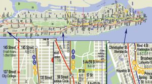 Manhattan Subway Map by LuigiLA