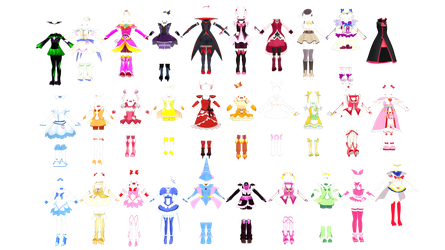 [MMD] Precure/Other MEGA PACK(+DL) by LunettaSolari