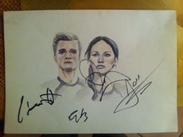 Catching Fire AUTOGRAPHED by Auri3