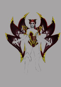 Queen of Pain Dota 2 set proces 3 by ivanbogicevic