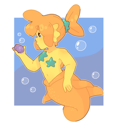goldfish boy by KrayolaKakes