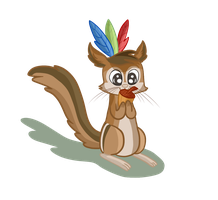 Art trade - Karl the chipmunk by LeaOla