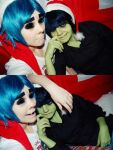 Happy New Year from 2D and Murdoc by Helen-Stifler