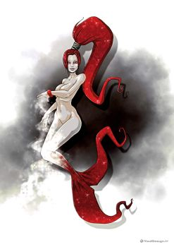 Red Mermaid by YoulDesign