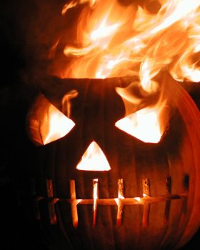 Burning Pumpkin 089117 by mumblyjoe