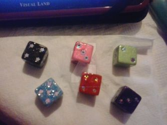 Hand-painted Dice  by MsFABULOUS16