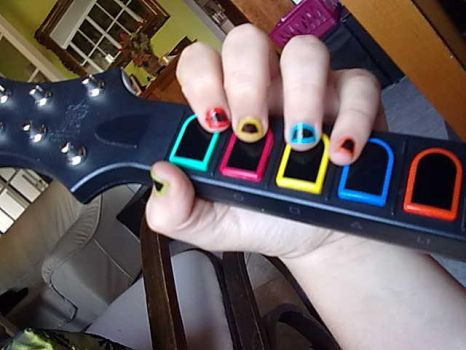 Guitar Hero Nails by Dycas98