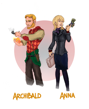 Archibald and Anna G.W. by Typhonian-Apkallu
