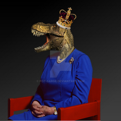 Her Majesty Queen Tyrannosaurus the Second. by PGT-Sarge