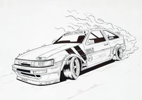 Toyota AE86 Levin by skyree010