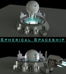 Spherical Spaceship Launch by Artificialproduction