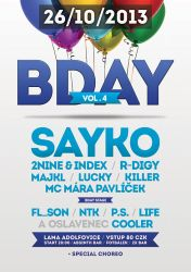BDAY vol.4 Main Event flyer by 2NiNe