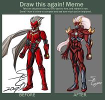 Before and After Meme: Seiryuga by AngriestAngryArtist