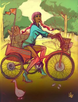 Bicycle Bread Delivery by inulg