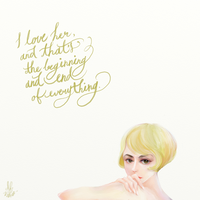 Gatsby, You can't repeat the past. by dummybunny