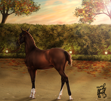 One With The Fall - Autumn Halter - Smoky 3rd by KittycatNita