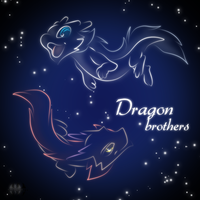 Dragon Brothers icon neon by Hatchy-Bridy