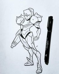 Samus (inks) by FranBianchi