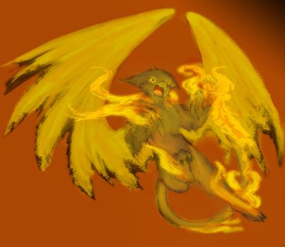 Fire Gryphon by Mozart-the-Cat