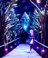 Returning to the winters magic + [speedpaint] by dathie