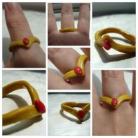 Sailor moon tiara Ring by ChemicalPhilosophy