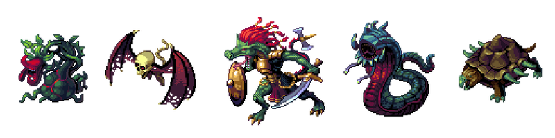 Isometric Monsters 2 - Echoes of Aetheria by Cyangmou
