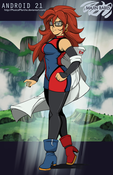 Majin Babes V: Android 21 (Human Form) by Chronorin