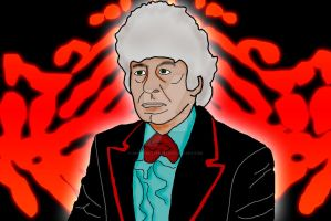 The Third Doctor Cartoon by GrantBattersby