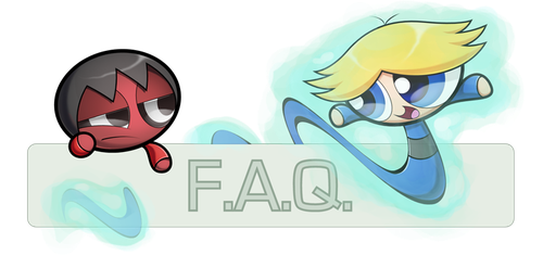 F.A.Q. Logo: Him Brick and Ghost Boomer by JKSketchy