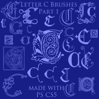 Letter C Brushes Set 1 by BohemianResources