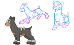 Houndour Sketches by Insane-Lioness