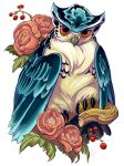 irezumi design: owl 002-001: PRINTS by fydbac