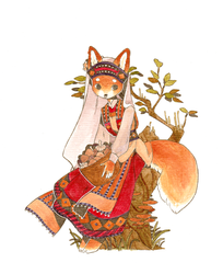 Fox Bride by strangelykatie
