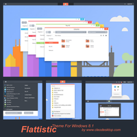 Flattastic Theme Windows 8.1 by Cleodesktop