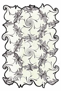 Tessellation: Seahorses and Fish by sethness
