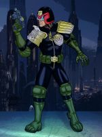Colours on Walden Wong's Judge Dredd by hellbat