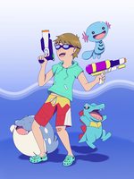 Totally Rad Gym Leader by lanaecomics