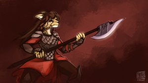 Daily dose of fur. And armor by Cacuu