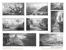 Environment Comps 1-8 by MIKECORRIERO