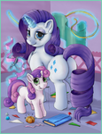 Just Rarity and Sweetie Belle by nezudomo