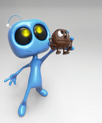 Zbrush Doodle Day 902 - Robot Kid Series 29 by UnexpectedToy