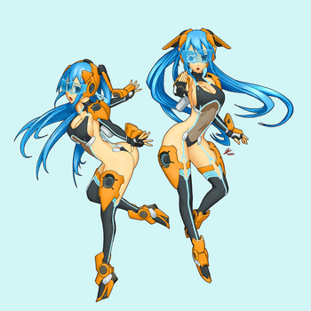 Commission Work Mecha Musume by wdy1000