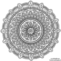 Hand-Drawn Mandala 7 by WelshPixie