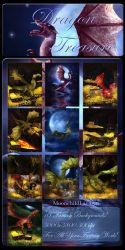 Dragon Treasure backgrounds by moonchild-lj-stock
