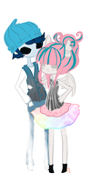 Monster High Rochelle And Billy by su-i-cide-kid