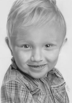 Smiling boy by Rajacenna