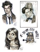 Doctor Who Sketch Dump by AdamWithers