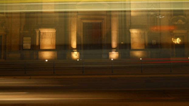 Tram in motion by sathilia