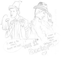 The Doctor and his hats! by Lokita-Naky